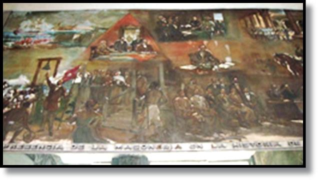 LA GRAN LOGIA DE CUBA Mural_a