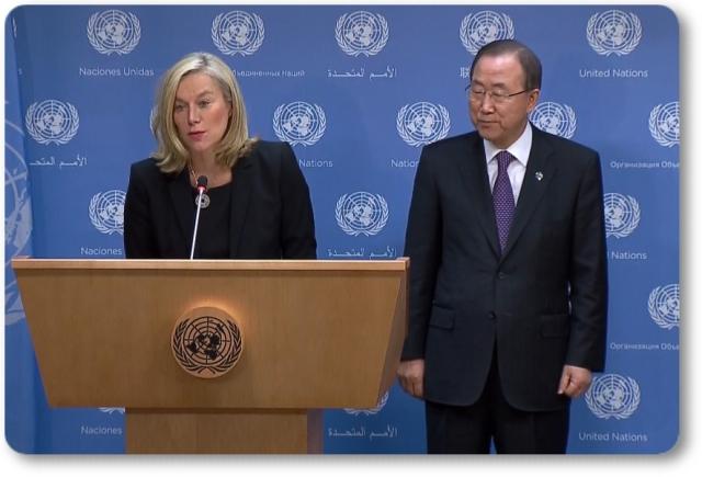 OPAQ holandesa sigrid-kaag y Ban Ki-moon