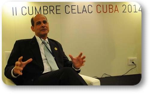 Rogelio Sierra, viceministro de relaciones exteriores de Cuba.