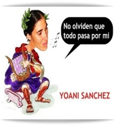 YOANI SANCHEZ TOCANDO LA LIRA